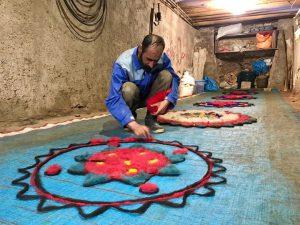 تاریخچه فرش نمدی ایرانی